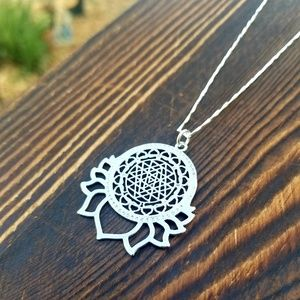 Jewelry - Sterling Silver Meditation Lotus Necklace